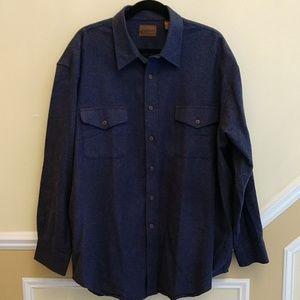 St. John's Bay Blue Heavy Cotton Flannel Shirt